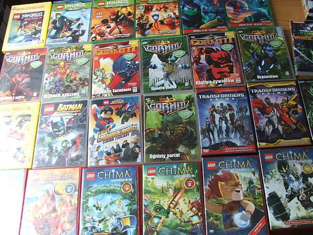 Gormiti, Ninjago, Ben 10, Chima, Lego Batman, Transformers bajki dvd