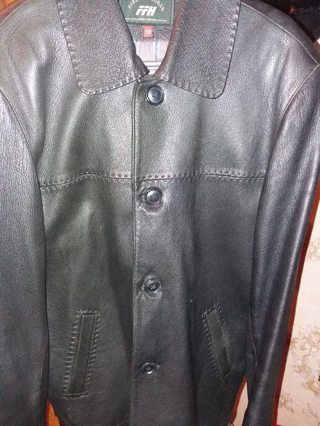 Кожаный пиджак. Размер 50.