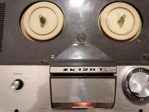 Magnetofon szpulowy unitra zk 120 t