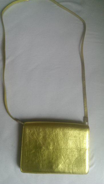 Złota torebka, kopertówka H&M