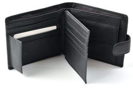 Мужской кожаный кошелек портмоне визитница SТ и F натуральная кожа