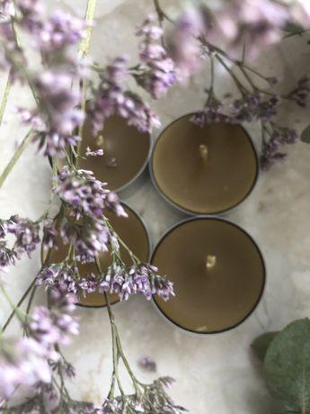 Tealighty ręcznie robione z wosku pszczelego 100% 30 sztuk