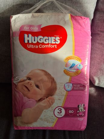Huggies Ultra Comfort 3 Mega для девочек  95 шт