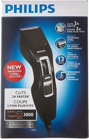 Aparador de cabelo Philips com pente regulável até 23mm