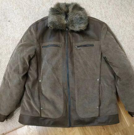 Куртка мужская с подстежкой зимняя. Теплая