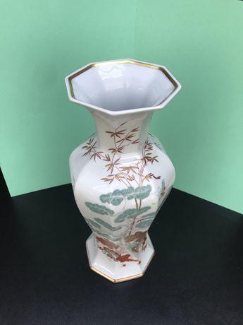 """Jarra de porcelana da Vista Alegre """"Mountain Pine"""" de 1989 com 29,5cm"""