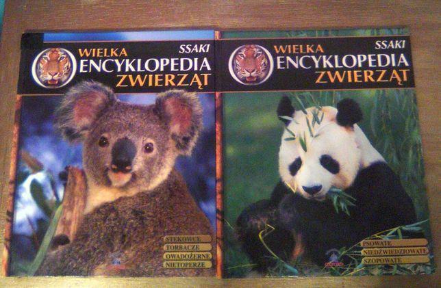 Zestaw : 2 tomy : Wielka encyklopedia zwierząt - Ssaki - jak nowe