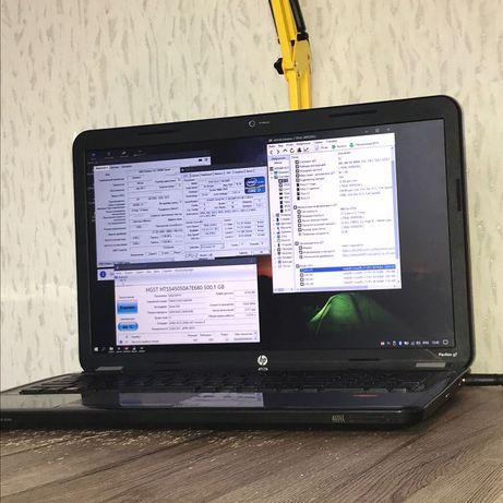 Мощный игровой ноутбук HP i7 4 ядра, 17.3 дюйма, две видеокарты