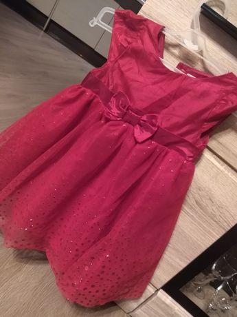 Śliczna czerwona sukienka rozm. 86