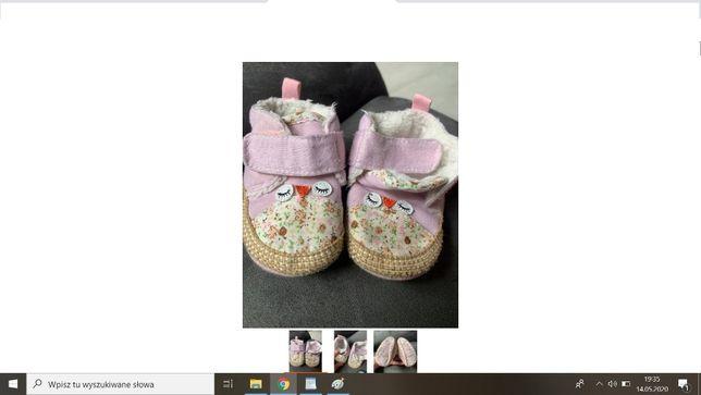 Buty z sowami niemowlęce 19 Cool Club miękkie dla noworodka wysyłam