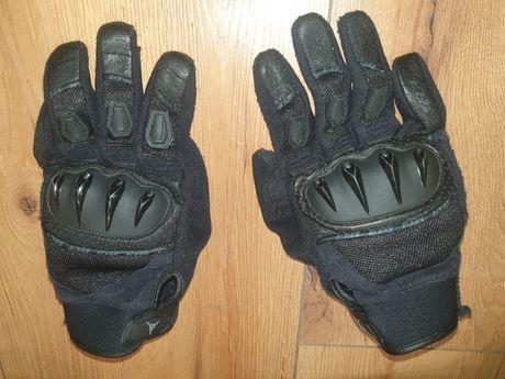 Rękawiczki czarne męskie na motor motocyklowe SECA XL