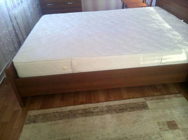 Двухспальная Кровать Гербор Сон орех + матрас 160*200см