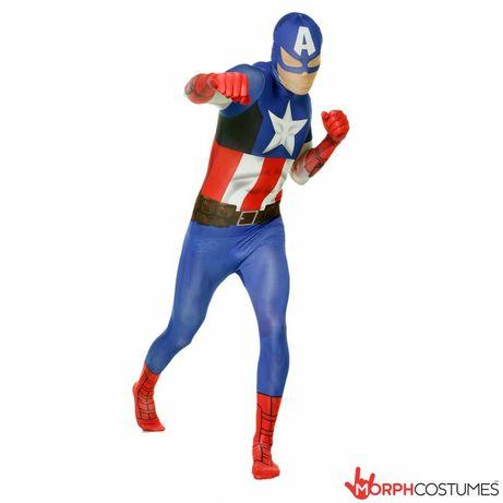 Фирменные морфсьют Marvel , Captain America, капитан Америка