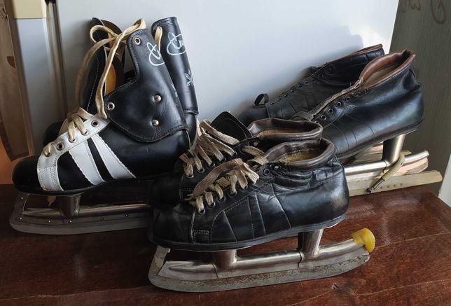 """Коньки беговые советские мужские и детские,  хоккейные детские """"Спорт"""""""