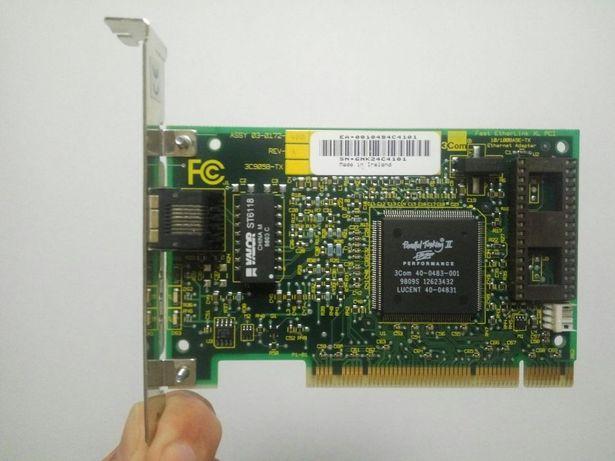 раритетная сетевая карта 3Com Lan Card 100Mbs