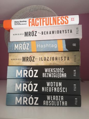 Książki Mróz, Harlen Coben, Marcel Moss i inne