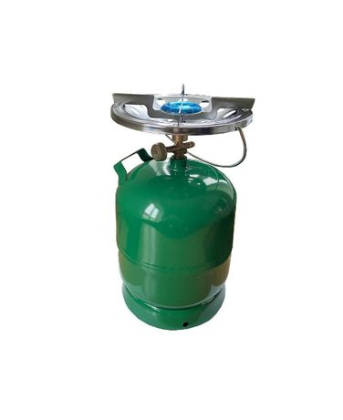 Газовый баллон 8 л с горелкой (2,5 кВт) туристический портативный