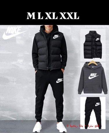 Komplet męski 3 częściowy dres + bezrękawnik Nike