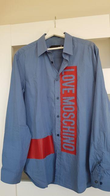 Love Moschino koszula niebieska męska M/L