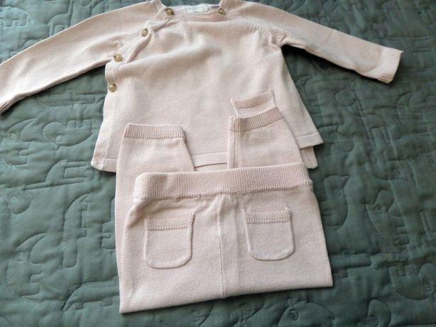 MANGO dzianinowy dres 68 3-6 miesięcy