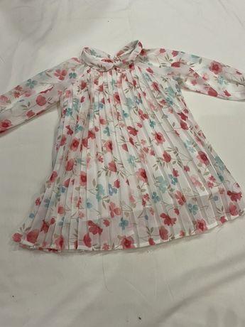 Шикарное платье Chicco на рост 74см