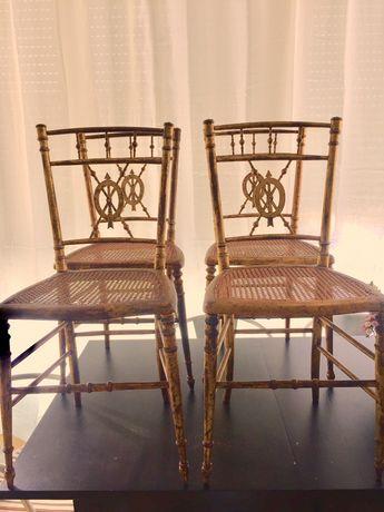 Cadeiras Palhinha Dourada