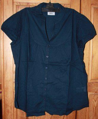BPC TRENDY bluzka koszula granatowa 44/46