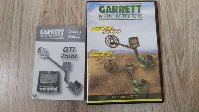 Instrukcja obsługi i DVD do wykrywacza metali Garrett GTI2500