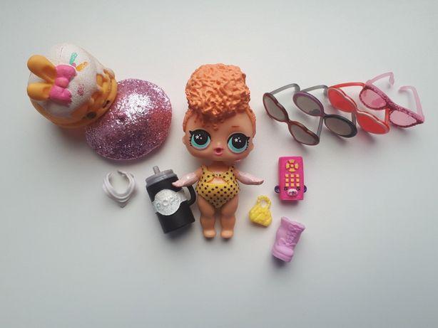 Кукла ЛОЛ LOL omg лола оригинал оранжевые волосы очки одежда куколка