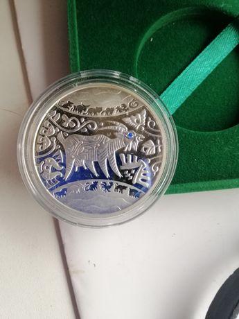 Пролам монеты Украины из серебра.