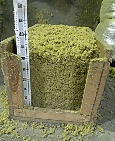 Granulat skalnej wełny mineralnej różne gęstości zasypowe