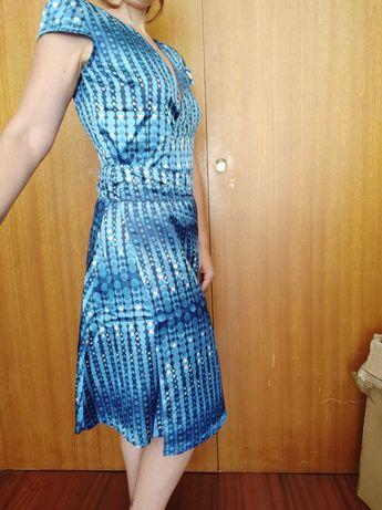 Vestido Azul, bolinhas, muito fresco