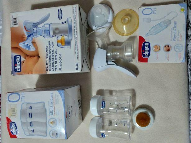Acessórios de amamentação e aspirador nasal