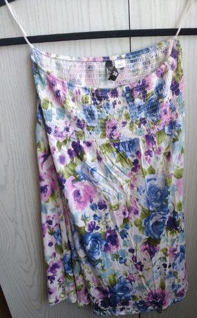 Letnia sukienka-spódniczka-dłuższa bluzka - rozmiar S/M/L