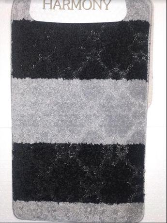 Прорезиненный набор ковриков для ванны туалета 80*50+50*50 Garmony