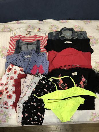 Продам пакет вещей на девочку,рост 116-122,zara,waikiki,h&m