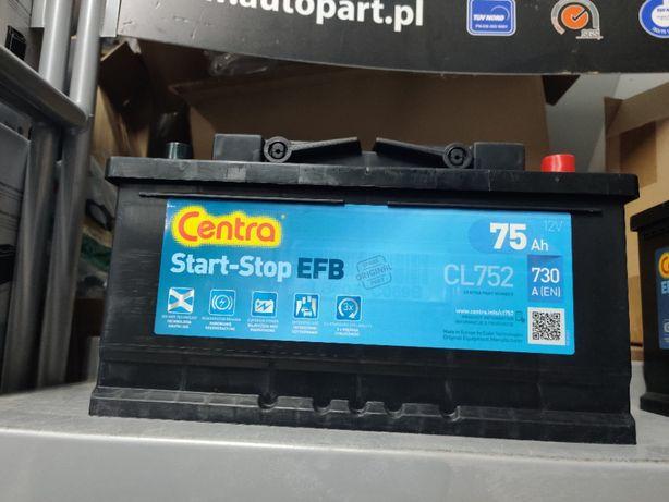 Akumulator Centra EFB CL752 12V 75Ah 730A P+ Start-Stop EL752