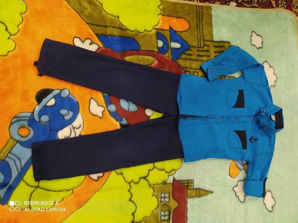 Брюки штаны на мальчика 6-7 лет. Турция. В подарок рубашка