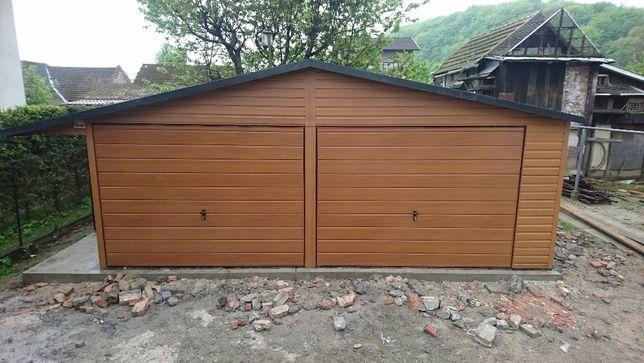 Garaż blaszany 6x5 drewnopodobny,garaże blaszane,blaszaki,wiaty,hale
