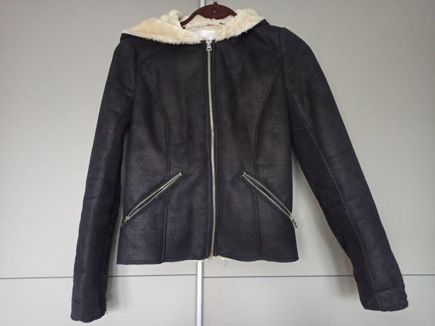 Kożuszek Zara, czarny, rozmiar XS 34