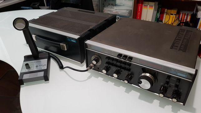 Radio Drake TR7 w zestawie z mikrofonem Zetagi.