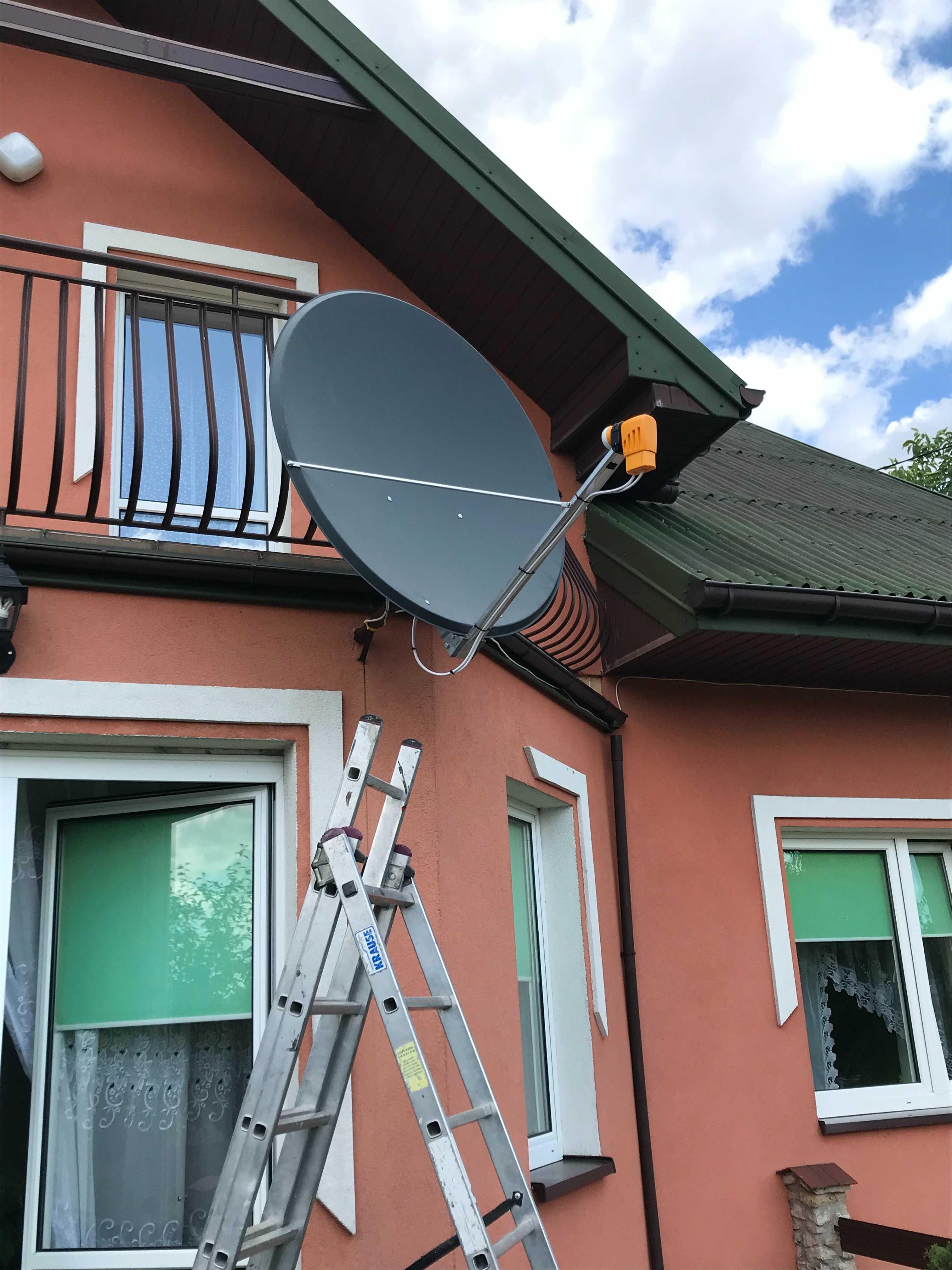 Montaż ustawienie serwis Anten Satelitarnych i DVBT Busko