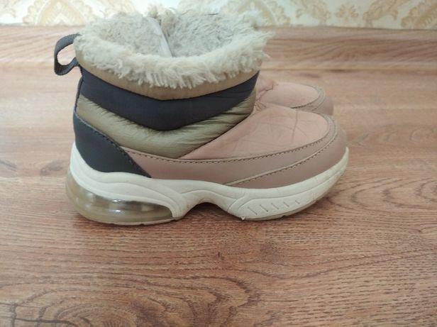 Zara дитячі ботинки зимові зимние ботинки