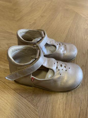 Złote Emelki Emel 23 sandałki
