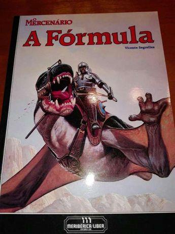 Livro BD A fórmula o mercenário vicente segrelles