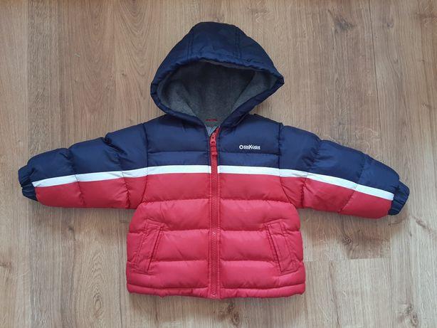 Ciepła zimowa kurtka dla chłopca 2 lata