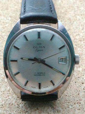 Zegarek męski Olma 17 Jewels z kalendarzem.