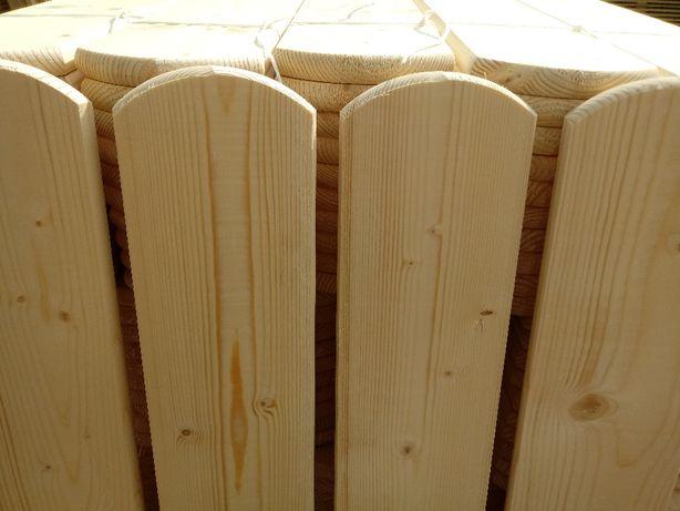 Sztachety 13cm/ 1m świerkowe drewniane ogrodzenie płot