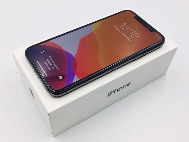 PROMOCJA • iPhone X 256 GB Space Gray • GWARANCJA 1 MSC • AppleCentrum