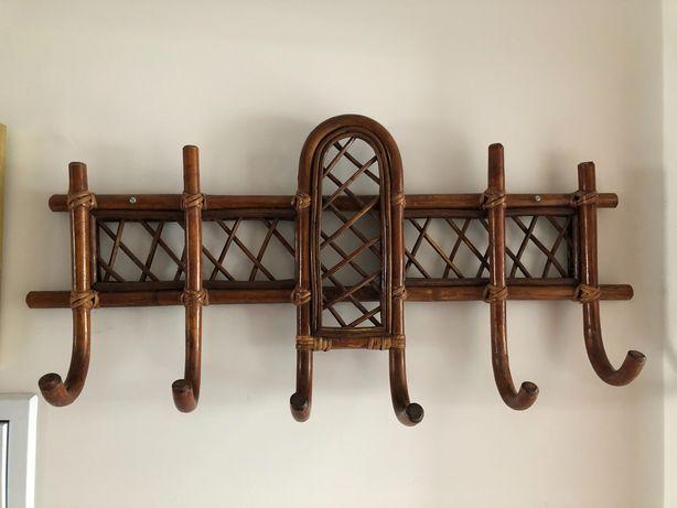 Cabide de parede em bambu